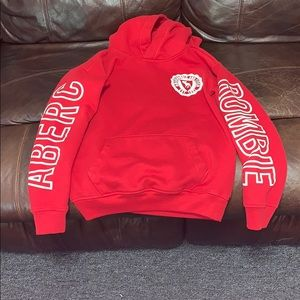 Red Abercrombie sweater sz 11/12
